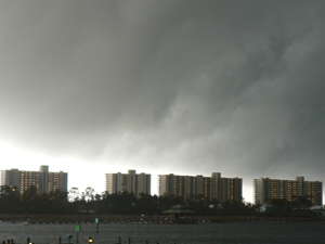A storm approaches in Orange Beach.