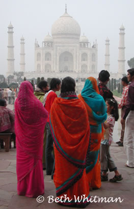 Colors at Taj Mahal. Photo by Beth Whitman via WanderTours.