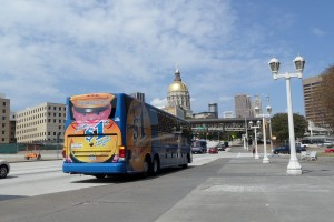 Megabus is heading to the South.