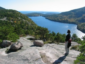 View of the Jordan Pond in Acadia National Park, ME. Photo by NPS/Sheridan Steele