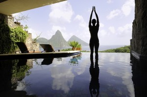 Jade Mountain in St Lucia offers spectacular, soothing views.