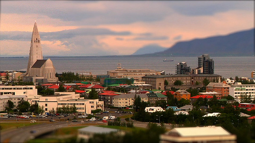 Reykjavik, Iceland, is a hot destination despite its chilly climate. Photo via Flickr.com user poptech.
