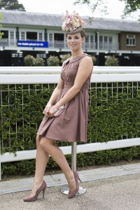 Alice Linley, works for British Horse Racing Authority, she described her outfit: An ASOS dress with a new look clutch and matching Topshop shoes. and she said she designed her hat herself!