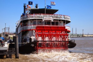 The Paddlewheeler Nachez in the Port of New Orleans. Max Hartshorne photo.