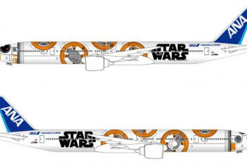 ANA Boeing 777-300 with Star Wars Livery